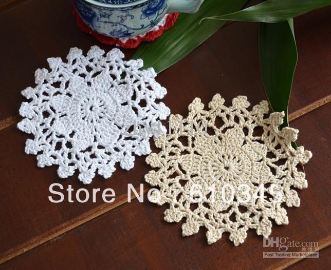 2016 Cotton Hand Made Crochet Doily ,Cup Mat ,Appliques 12cmx12cm ...