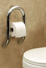 Toilet Grab Bars Safety Handrails example of the toilet paper tissue holder with grab bar, shown in