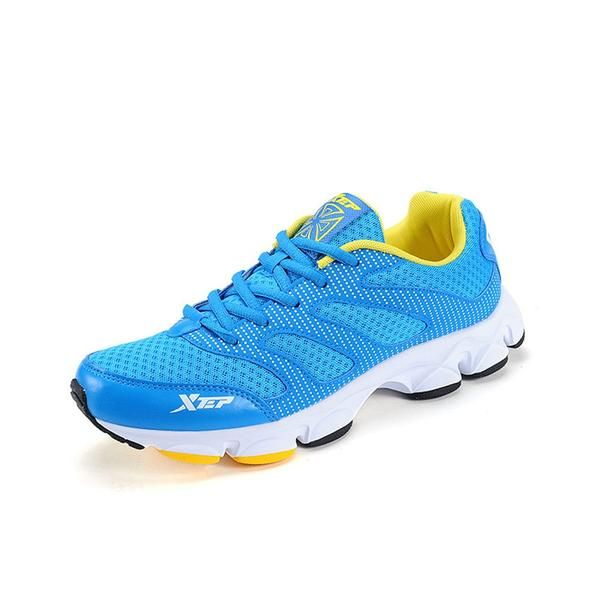sale retailer af4fe 21162 Xtep Original Men s Shoes Running Sports Shoes for Runner Trainers Gym  Athletic Shoe Mesh Sneakers Free