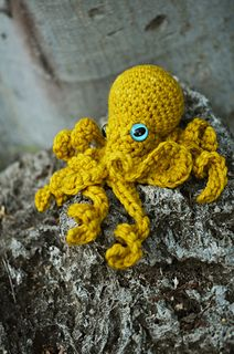 Realistic Crochet Octopus pattern by Leah Coccari-Swift