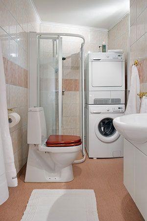 Poner la lavadora en el ba o ba o foro inmobiliario ba os con lavadora pinterest - Lavadora secadora pequena ...