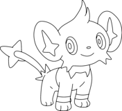 Shinx Coloring Page Pokemon Coloring Pages Coloring Pages Pokemon Coloring