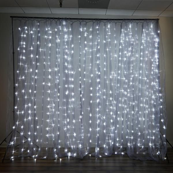 Efavormart Offers Unique Party Decorations And Wedding Supplies At Wholesale Rates Light Your Ambiance Up With Our Warm White LED Lit Organza Curtain