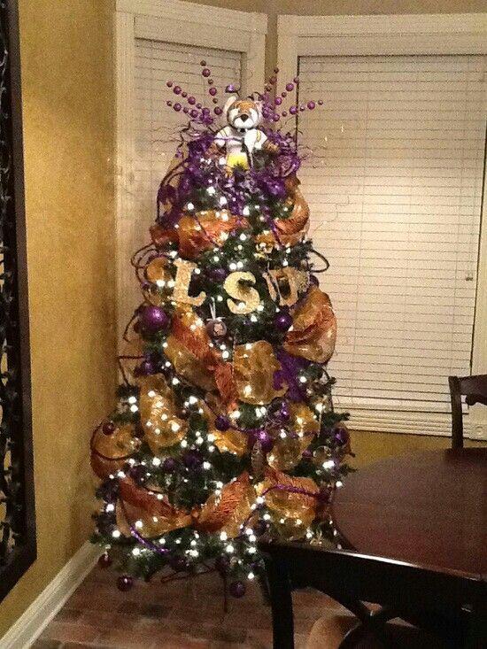 LSU CHRISTMAS TREE   Louisiana Christmas   Pinterest   Christmas ...