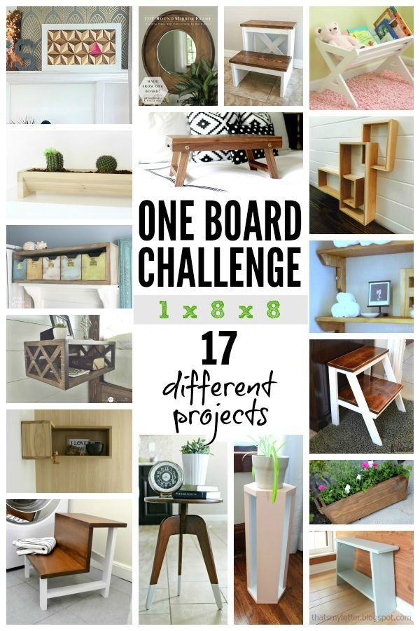 one board challenge 17 projects diy crafts Pinterest