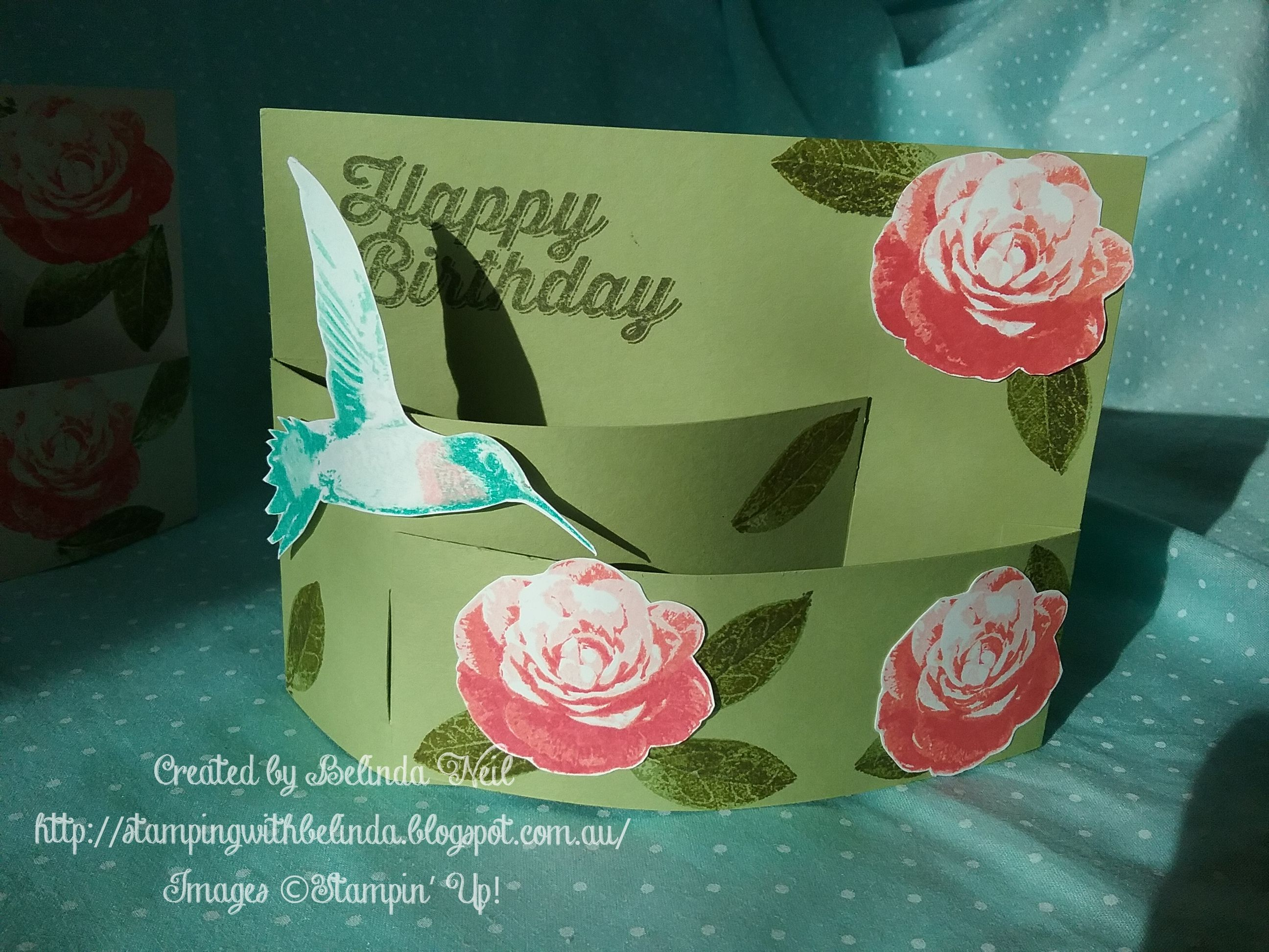 Stampin' Up! Bendy Fold Card. Picture Perfect