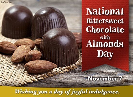 Happy National Bittersweet Chocolate With Almonds Day Misc Recipes Food Cooking Delicious F Bittersweet Chocolate Recipes From Heaven Chocolate Craving