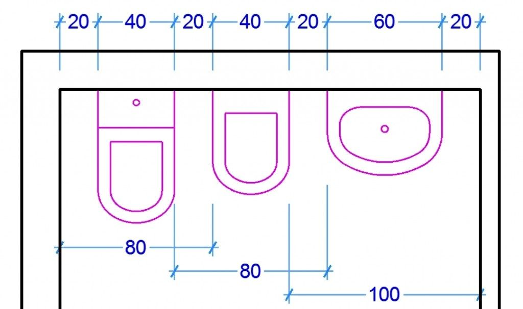 Le misure dell 39 uomo nell 39 abitazione il bagno layout di for Misure mobili bagno