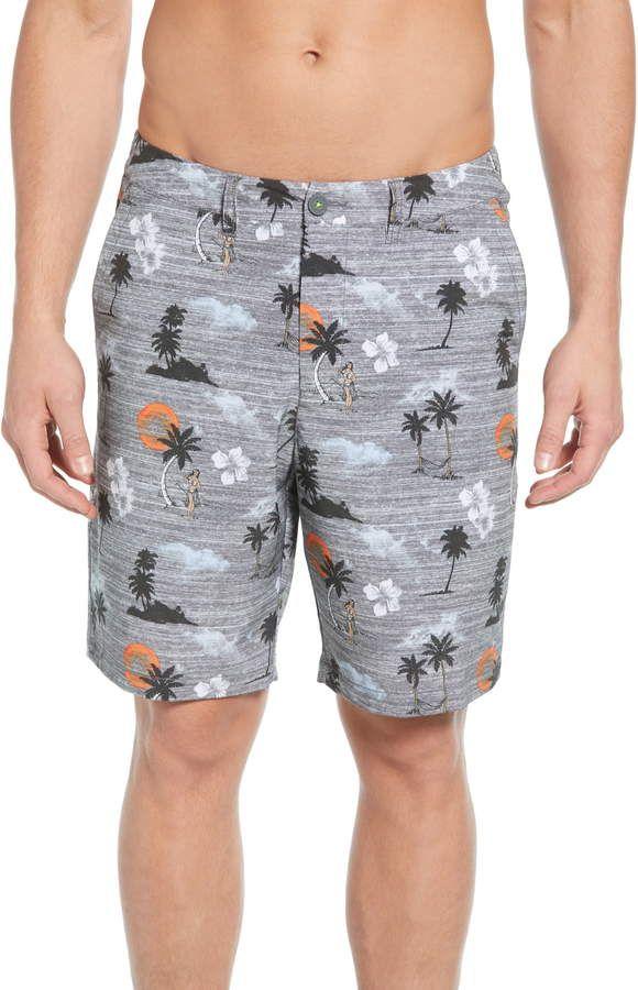 fa7ad1cafa Men's Tommy Bahama Cayman Hula Sunset Swim Trunks, Size 30 - Grey in ...
