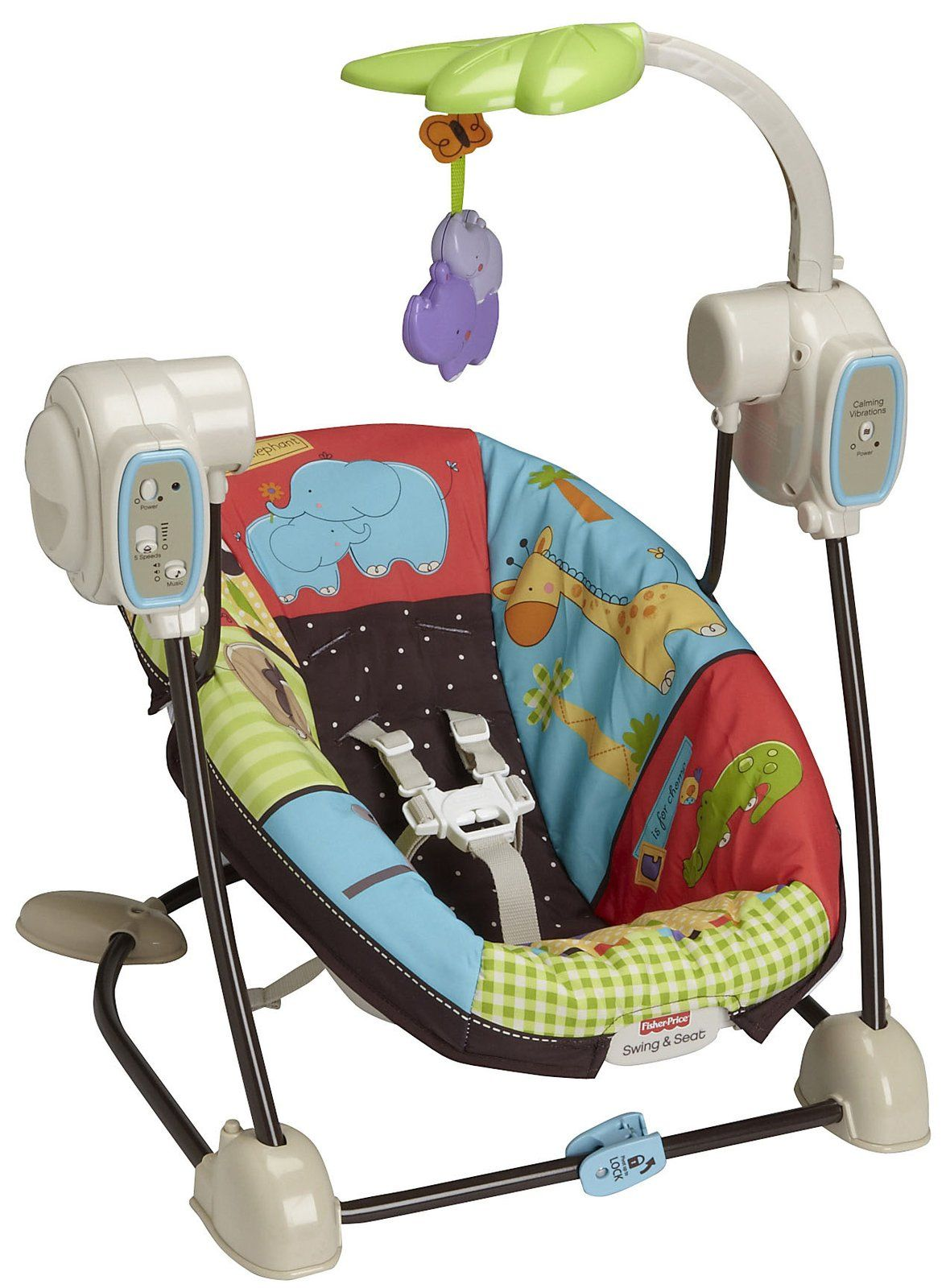 71e9da4b8 Fisher Price Luv U Zoo SpaceSaver Swing   Seat. I like that this is ...