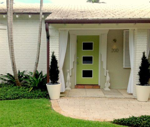 Mid Century Exterior Window Shutters In Palm Beach Was Taken From Tear Down Status To Fun