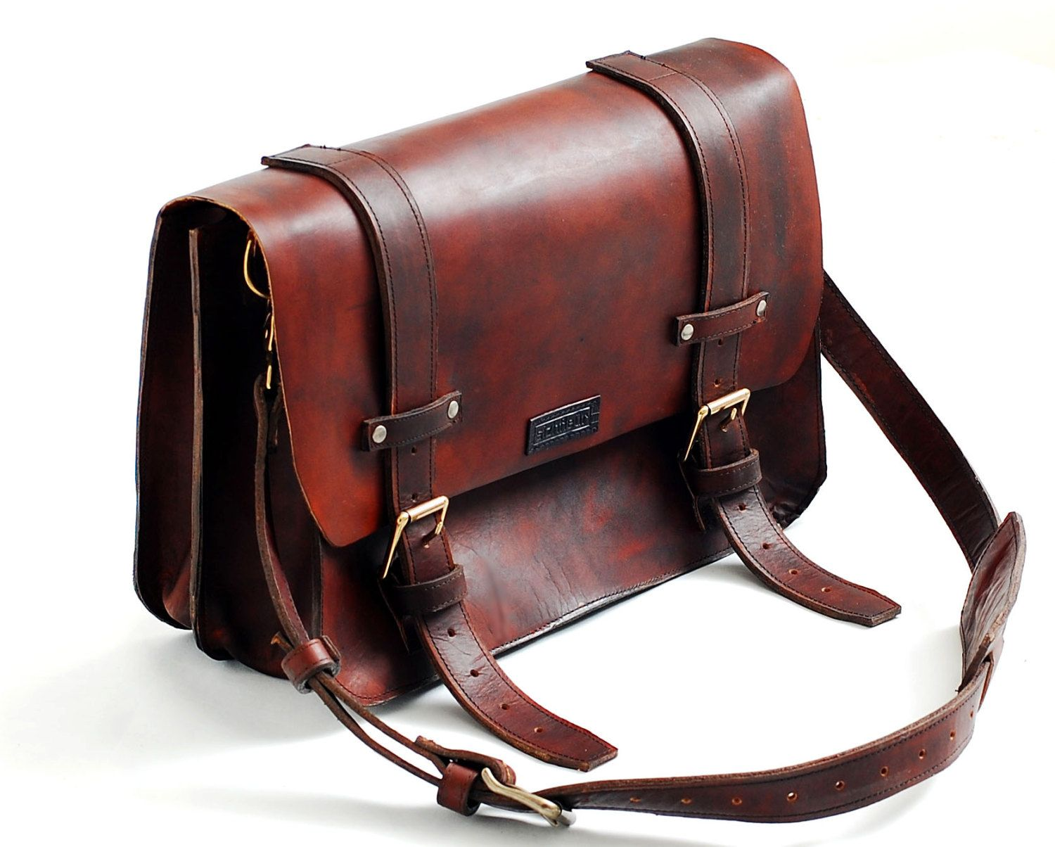 Leather Messenger Bag or leather lawyers bag, leather satchel for ...
