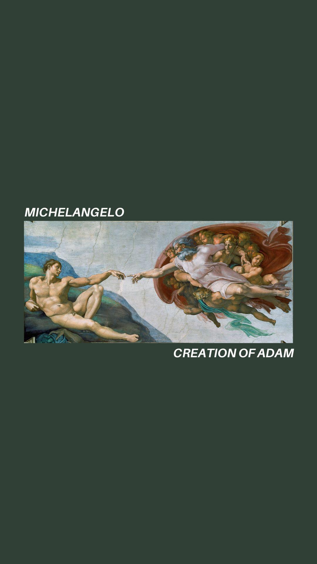 Michelangelo wallpaper art hoe aesthetic tumblr iPhone