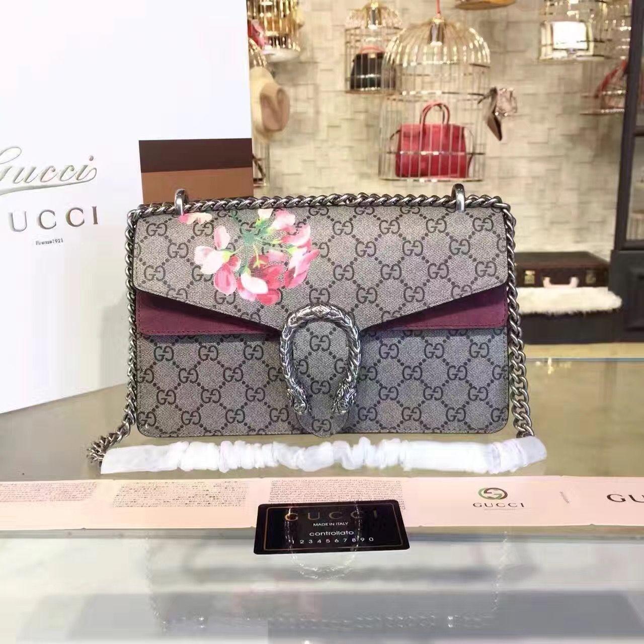 3f2ce1c24b1 Gucci Dionysus Blooms Print Small Shoulder Bag Vintage Rose 400249 2016