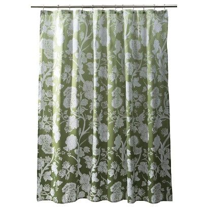 1999 Target ThresholdTM Wasabi Green Ombre Floral Shower Curtain