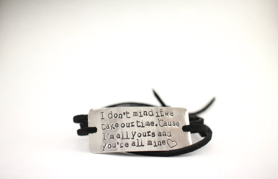 Quote bracelet valentine s day gift for her long distance