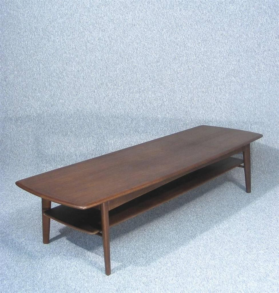 Retro light teak circular glass top coffee table nest of tables by - A Beautifully Made 1960 S Vintage Retro Danish Long Teak Coffee Table Designed By Svend Madsen