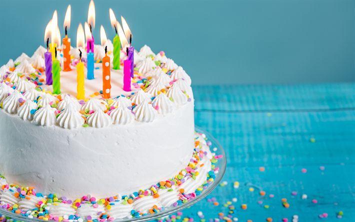 Herunterladen Hintergrundbild Alles Gute Zum Geburtstag Kerzen