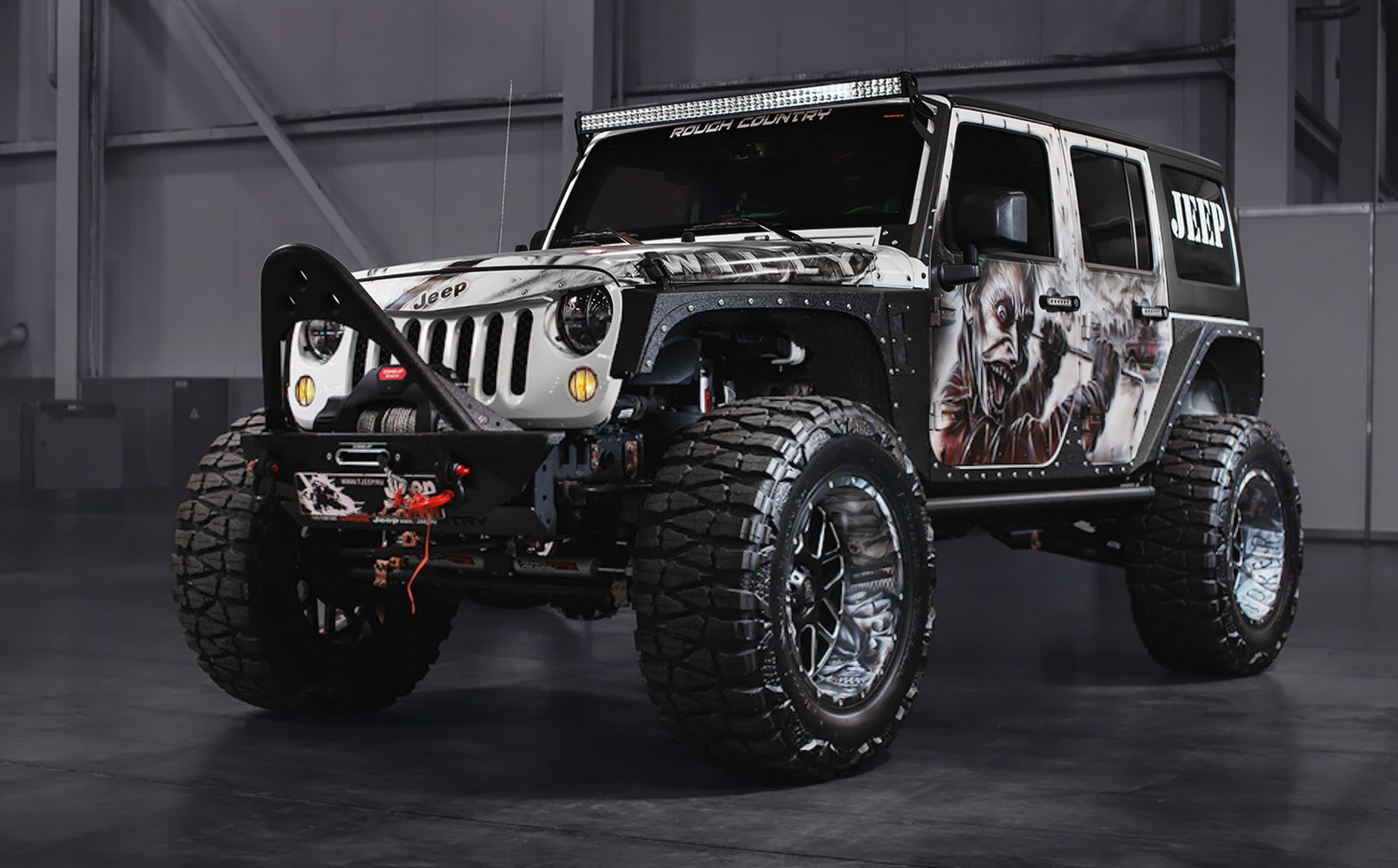 A Custom Wrap On This Jeep Wrangler Kitted Out With A Custom