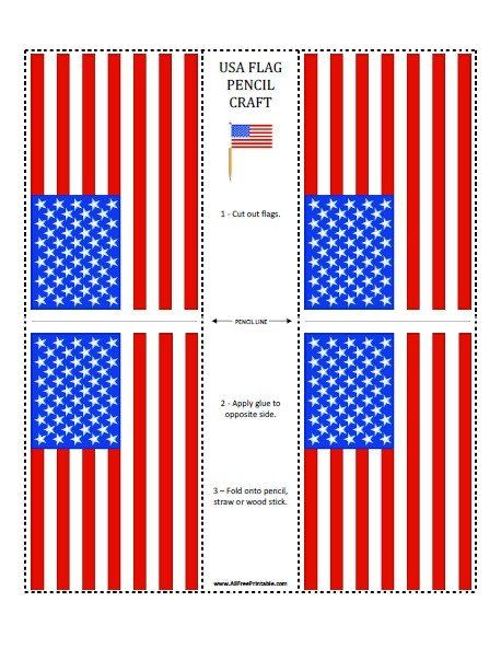 Us Flag Coloring Page Us Flag Pencil Craft Free Printable ...