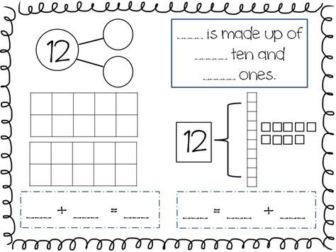 Compose And Decompose Numbers 11 19 FREEBIE First Grade