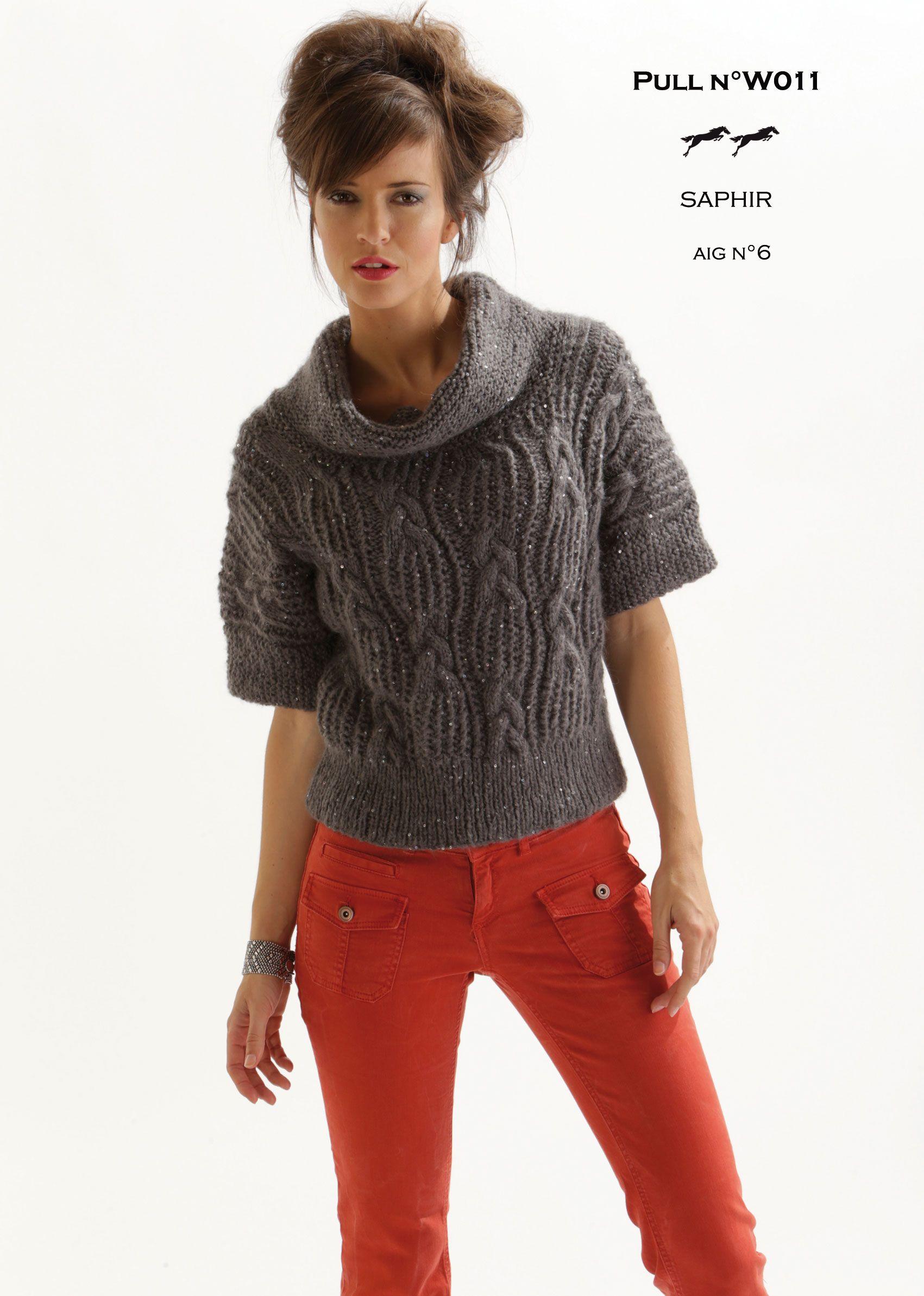 Modèle pull W011 Patron tricot gratuit | Patron tricot