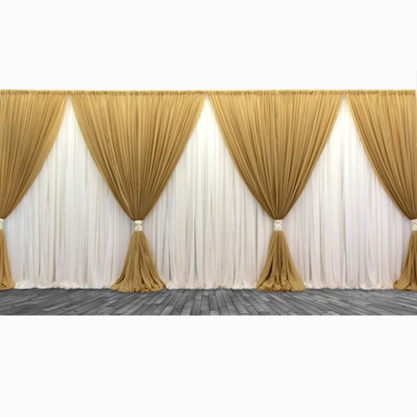 Premium Two Tone 3 Panel Backdrop Height 7 12ft Curtain
