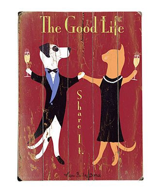 ArteHouse Wall Art, The Good Life Wooden Sign