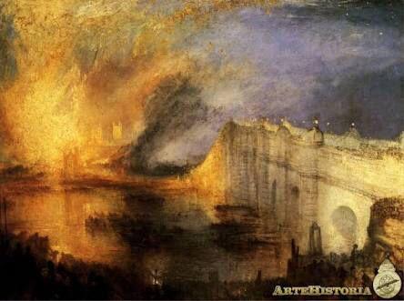 J.M.W. Turner, El incendio de las casas de los Lores y los Comunes, 1834