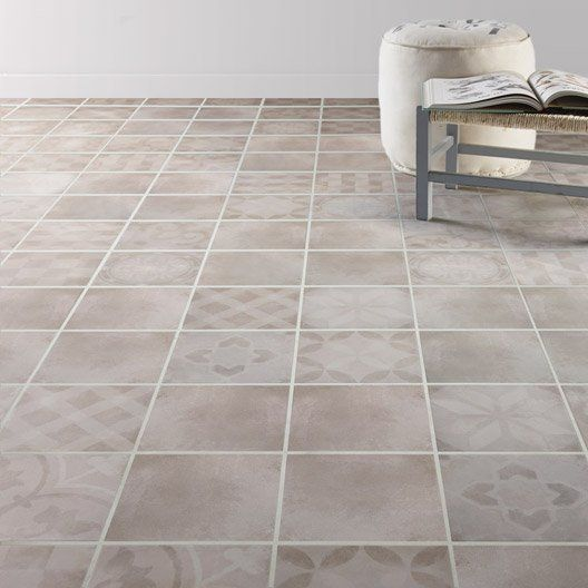 Carrelage interieur bistro artens en gres cerame emaille for Carrelage sol interieur gris clair