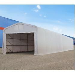 Photo of Zelthalle 5x16m Pvc 550 g/m² grau wasserdicht Industriezelt Toolport