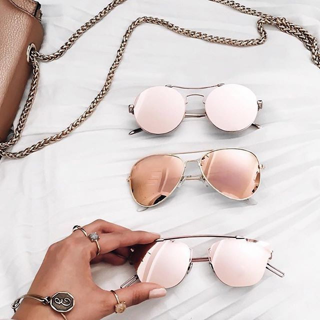 83fb5cbd16f6 Rose gold sunnies are our favorite. // Follow @ShopStyle on Instagram to  shop this look