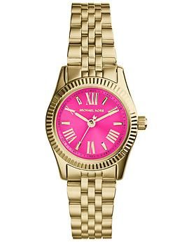 da61a4b33dd I m on the hunt for a cute gold watch with a pink or turquoise. Watches  Michael KorsMichael ...
