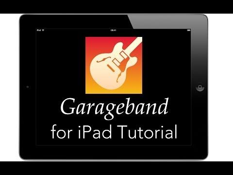 Garageband For Ipad Tutorial Youtube Music Technology