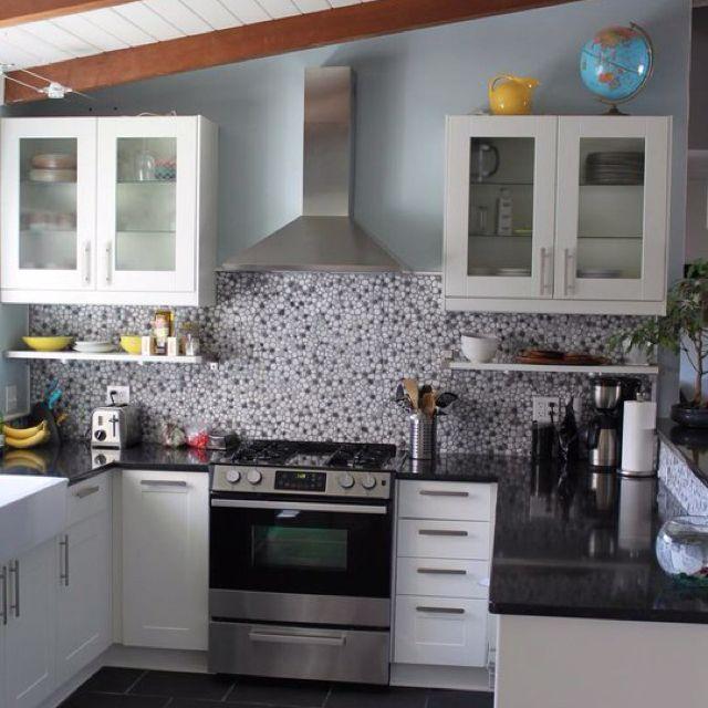 River Rock Kitchen: Backsplash River Stone Tile Home Depot