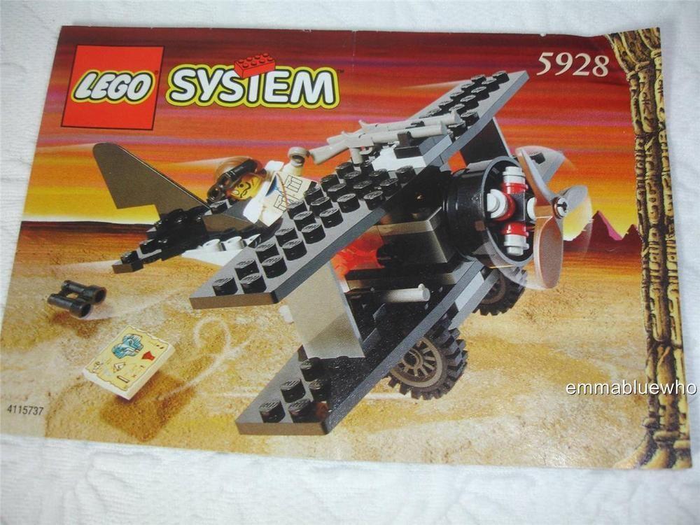 Lego Adventurers 5928 Bi Wing Baron Plane Airplane Instruction