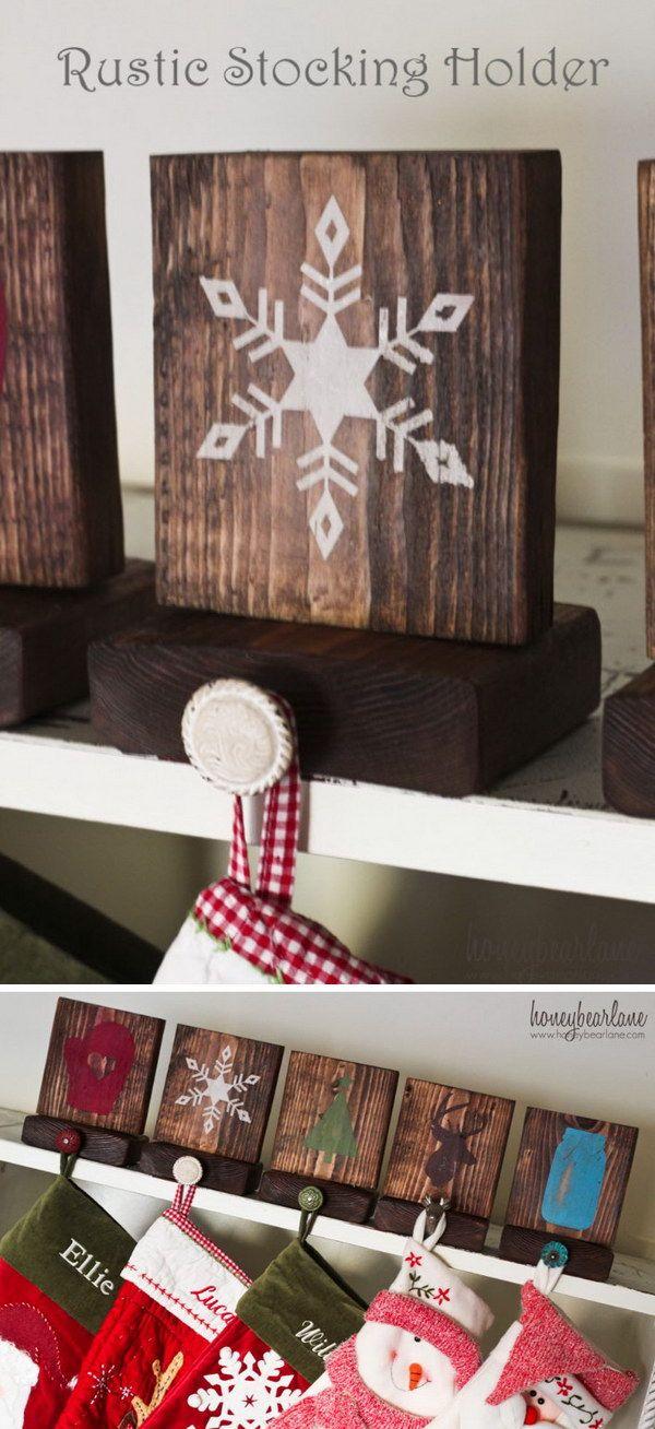 25 Diy Rustic Christmas Decoration Ideas Tutorials Christmas Stockings Diy Christmas Decorations Rustic Rustic