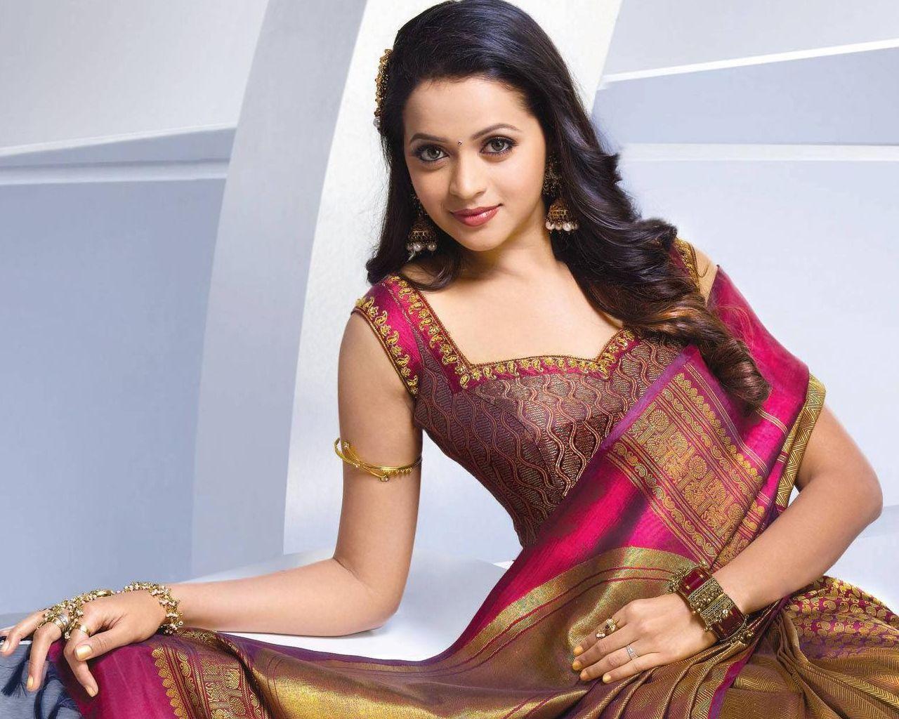 Beautiful actress bhavana httpnicewallpaperswallpaper bhavana in silky brown and red dress hd desktop wallpaper more wallpaper of bhavana at english wallpapers altavistaventures Image collections