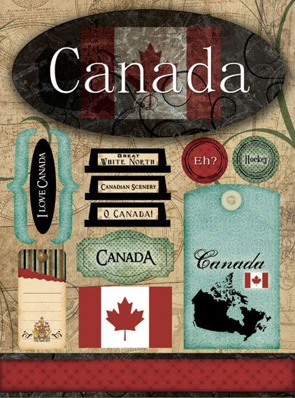 canada travel scrapbooking stickers canada pinterest. Black Bedroom Furniture Sets. Home Design Ideas