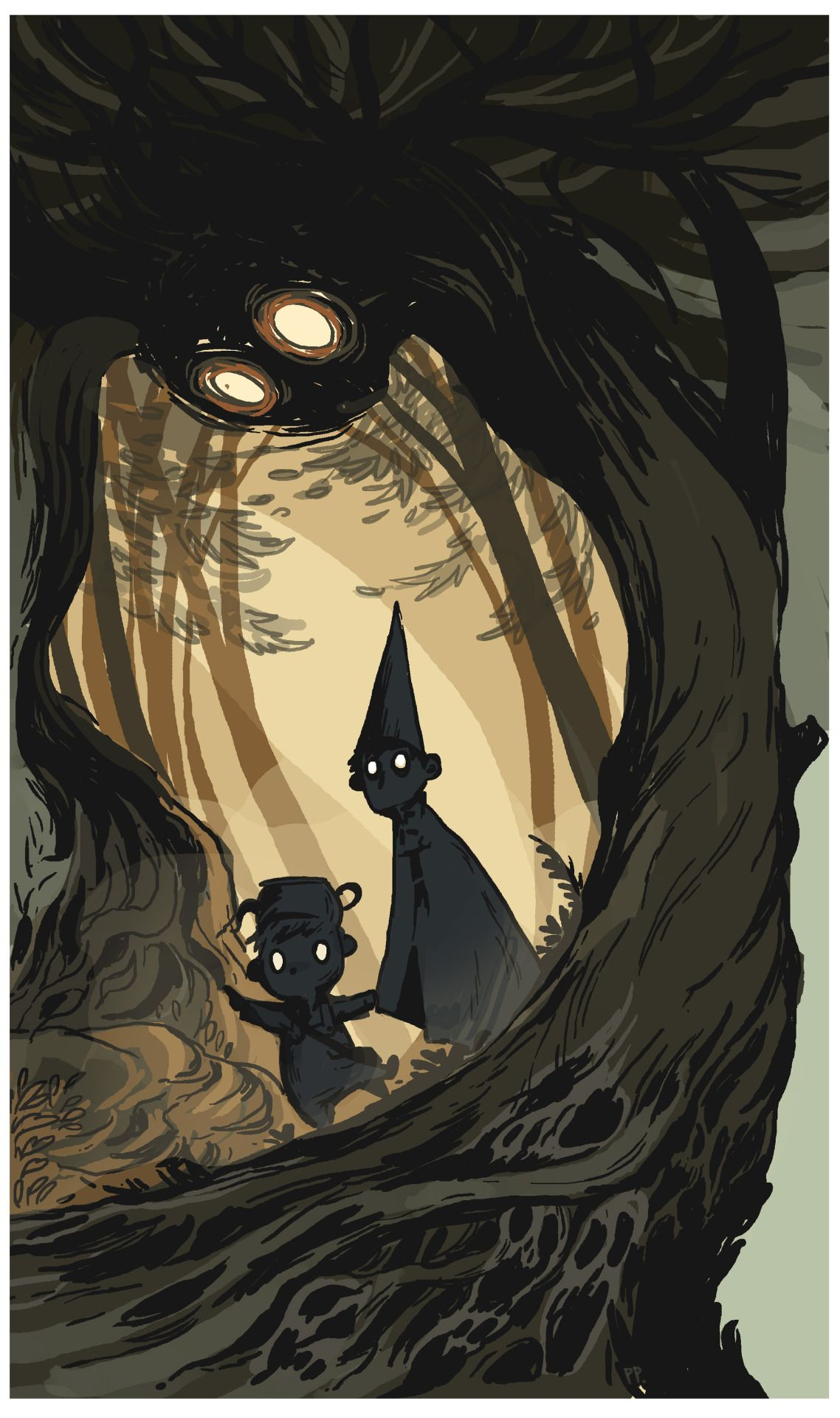 Over The Garden Wall Second Fanart This Year Patkulkan Garden Wall Garden Wall Art Over The Garden Wall