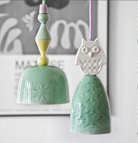 Rie Elise Larsen ceramic lamps