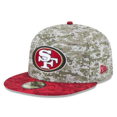 f423d15b4 Men s San Francisco 49ers New Era Camo 2015 Salute to Service On-Field  59FIFTY Fitted Hat