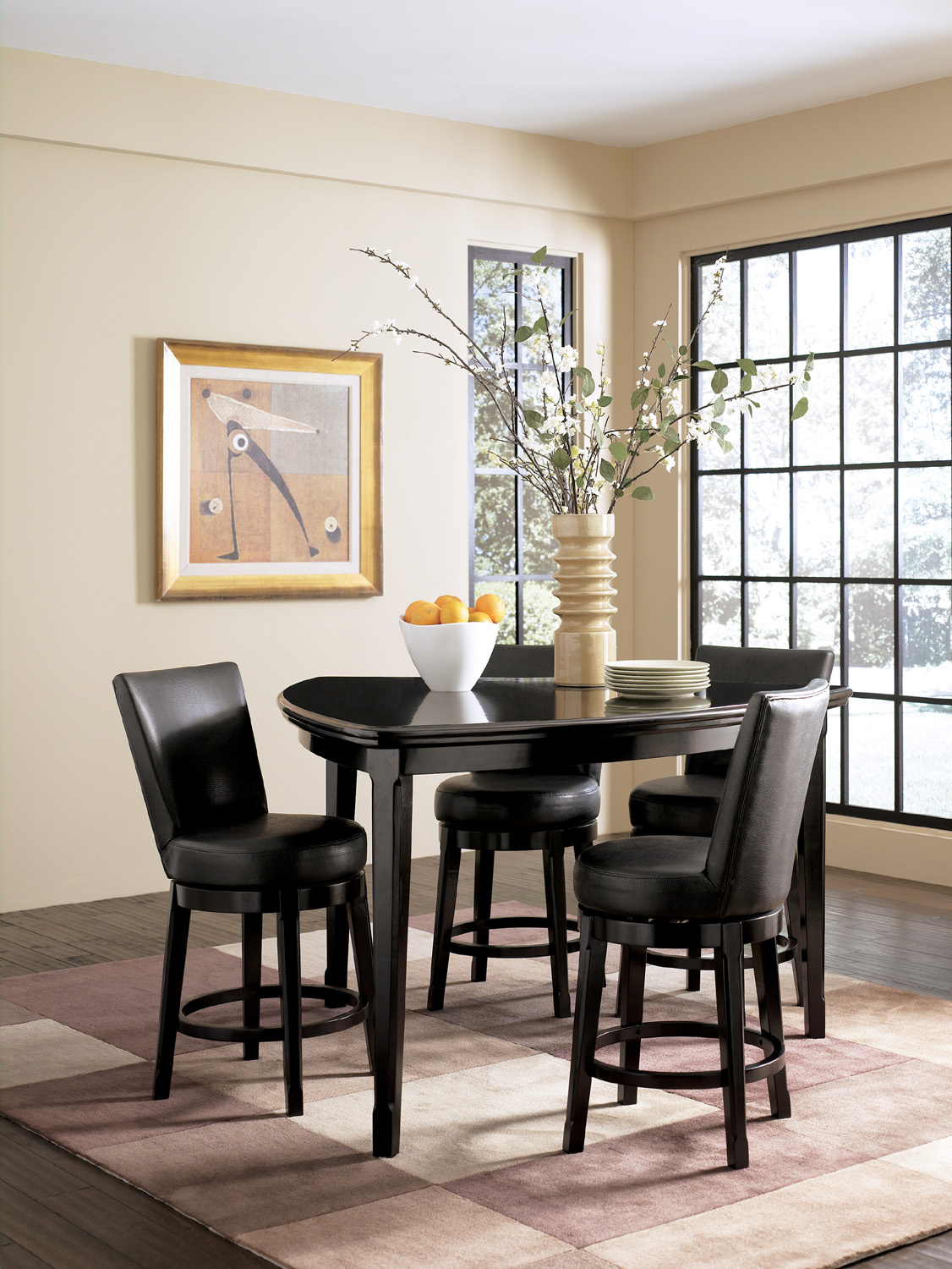 Emory Triangular Counter Height Dining Set Ashley Home Gallery S