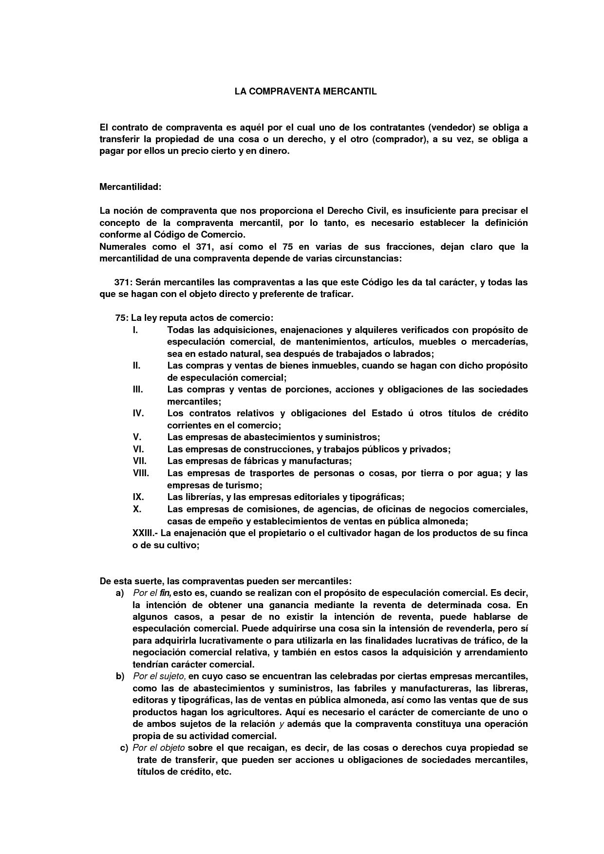 contrato de compraventa de venta sobre muestras | Contratos de ...