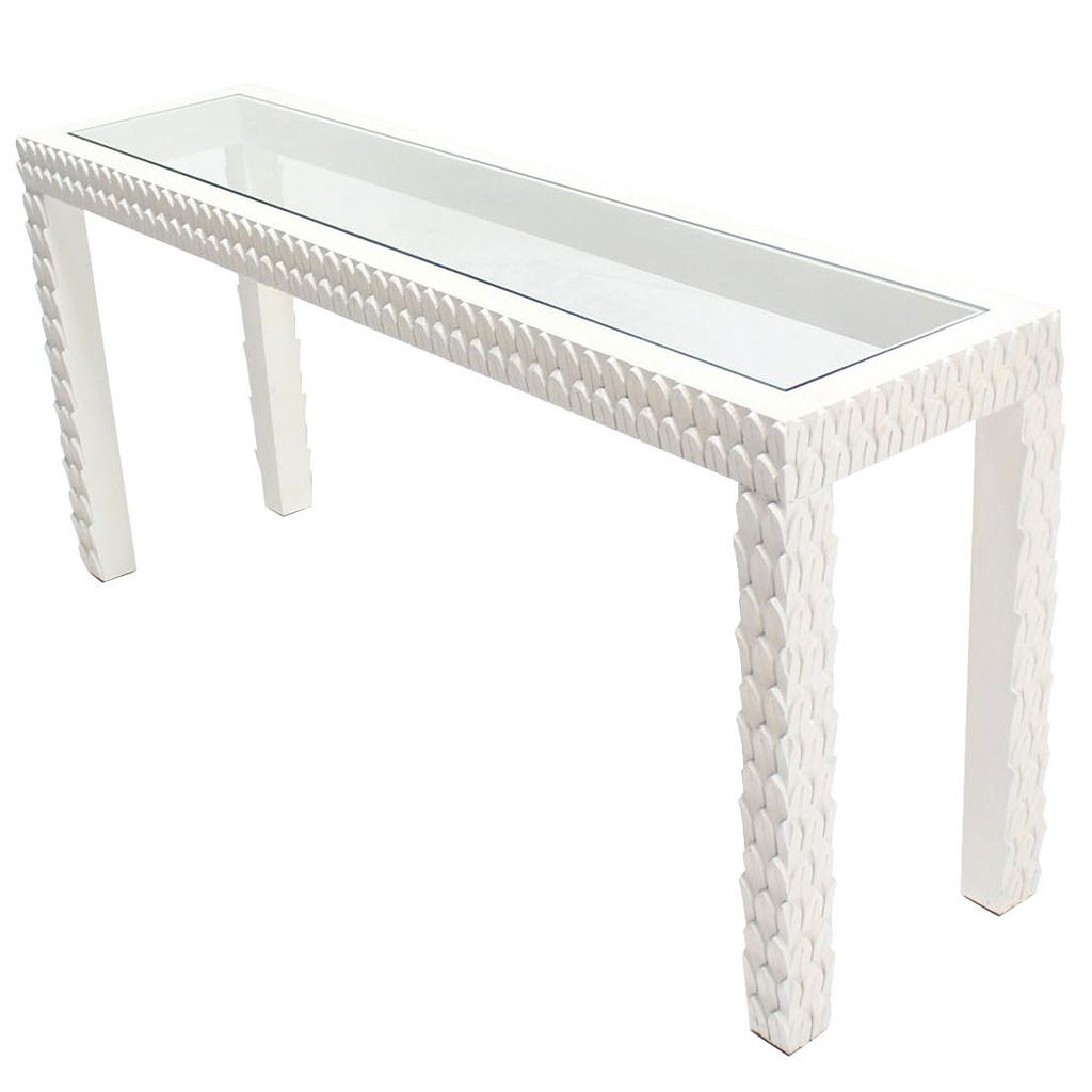 Maison 55 Claude Regency Mod White Lacquer Facet Console Table In 2021 Console Table Table Furniture