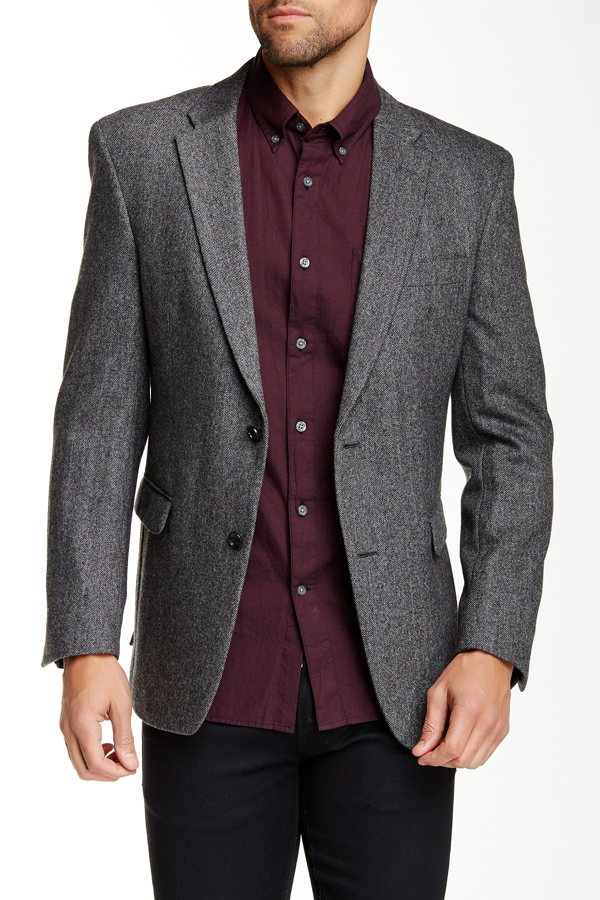 Tommy Hilfiger | Ethan Two Button Notch Lapel Herringbone Sportcoat | Nordstrom Rack