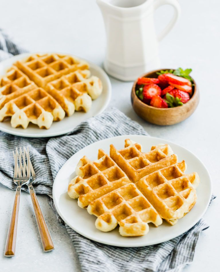 Beautifully Crisp On The Outside Light And Fluffy On The Inside This Buttermilk Waffle Recipe Re Waffle Iron Recipes One Waffle Recipe Belgian Waffles Recipe