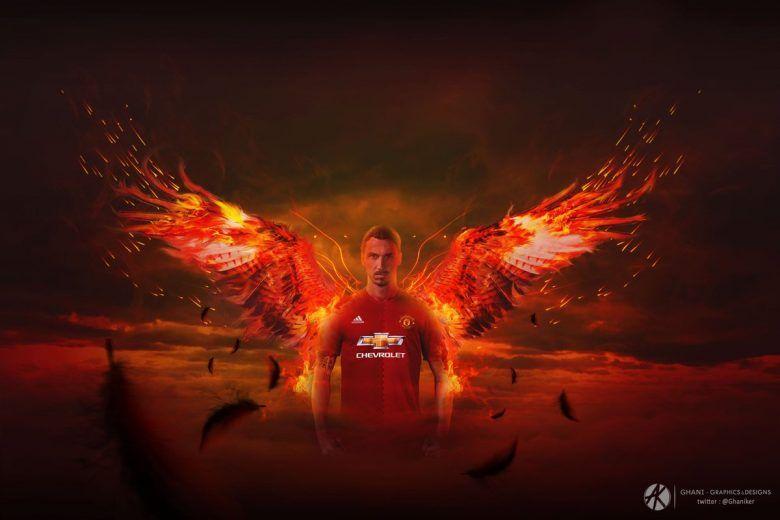 خلفيات زلاتان إبراهيموفيتش بقميص مانشستر يونايتد Wallpaper Image Zlatan Ibrahimovic