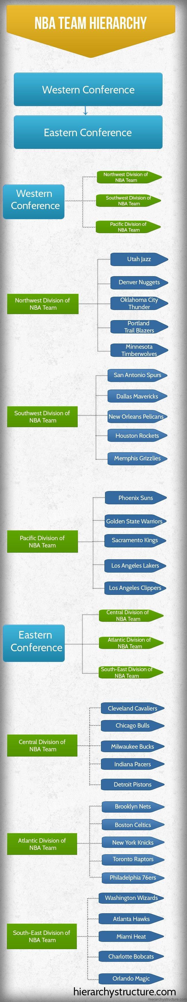 NBA Team Hierarchy | Sports Hierarchy | Pinterest | NBA, Nba ...