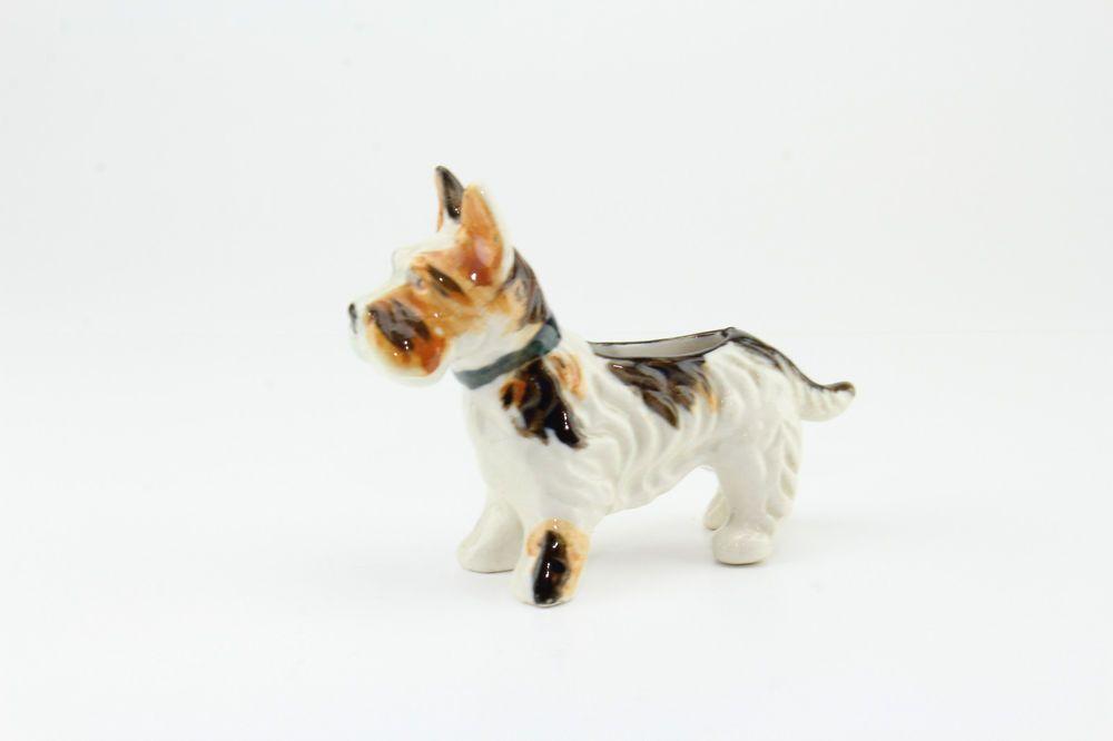 Scottish Terrier Scotty Dog Mini Planter Figurine Dcor Piece